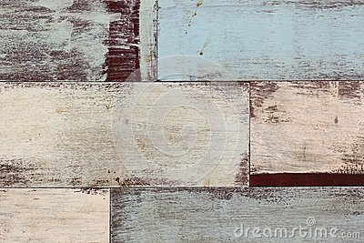 Detail of abstract art color wood wall