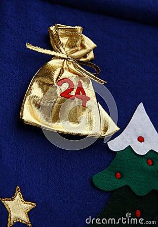 Detail of advent calendar