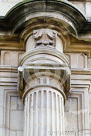 Detail of an ancient Greek pillar