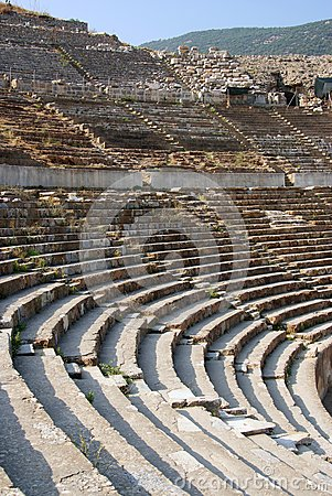 Detail of the ancient theater in ephesus
