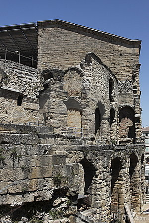Detail of ancient theatre of Orange