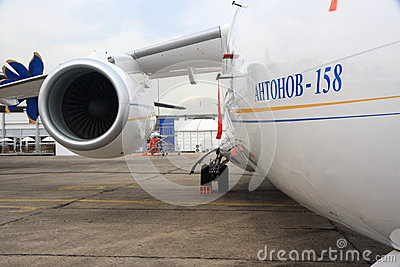 Detail of Antonov 158 Editorial Stock Image