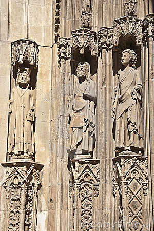 Detail of the Apostles Gate, Valencia Cathedral.