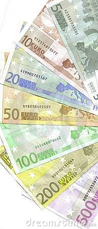 Free Detail Back Euro Notes Royalty Free Stock Images - 8129839