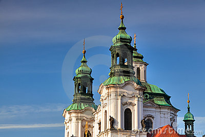 Detail of Baroque St. Nicholas  Cathedral