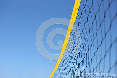 Detail of beach volley net