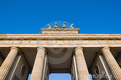 Detail of the Brandenburger Tor