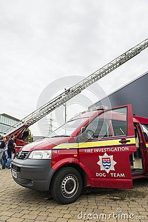 Detail of British fire brigade dog team Editorial Photo