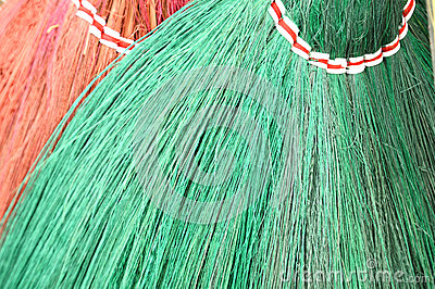 Detail broom fibers