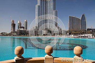 Detail of Burj Khalifa (Burj Dubai) Editorial Image