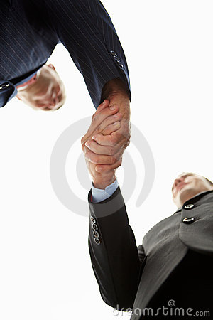 Detail businessmen shaking hands