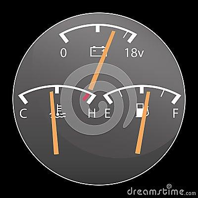 Detail of car gauges