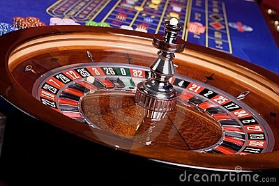 Detail of casino roulette, another view