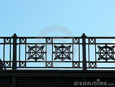 Detail of cast-iron fence