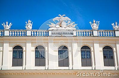 Detail of castle Schoenbrunn in Vienna