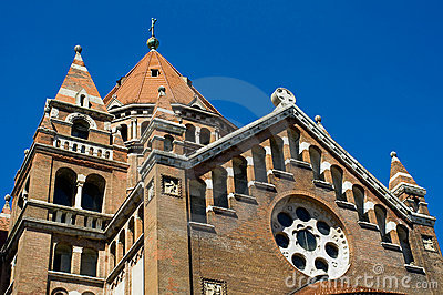 Detail of cathedral in Szeged, Hungary
