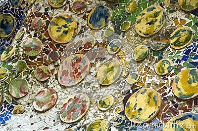Detail of the ceramics. Casa Batllo