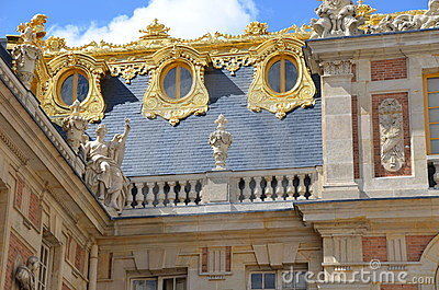 Detail of Chateau Versailles Palace