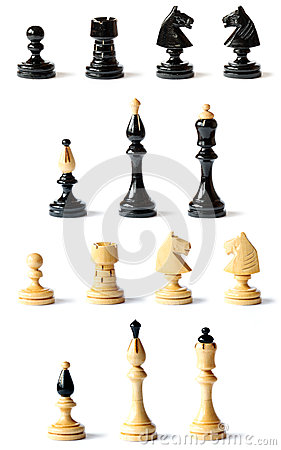 Detail of chess pieces