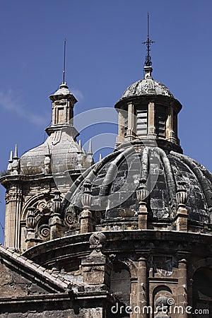 Detail of church in Granada