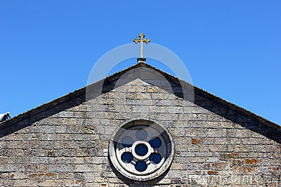 Detail of a church, Monsanto, Portugal