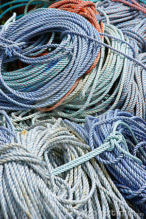 Free Detail, Coils Of Nautical Rope Stock Image - 9282301