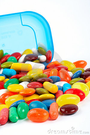 Detail of colorful sweets background