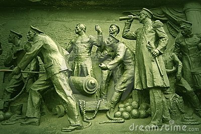 Detail Crimean War monument. Sebastopol