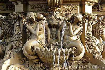 Detail des Brunnens nahe Edinburgh-Schloss
