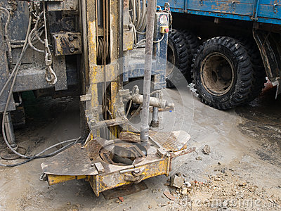 Detail of drilling rig