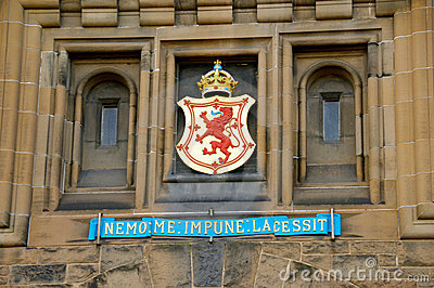 Detail on Edinburgh Castle