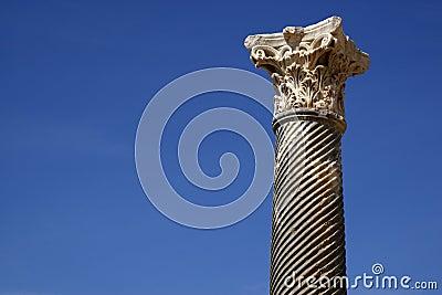 Detail einer römischen Spalte