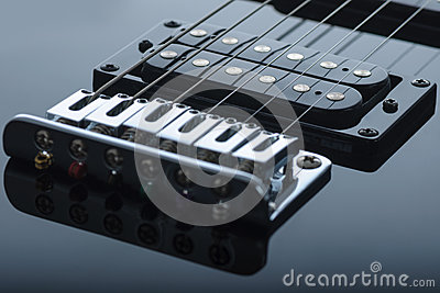 Detail of electric guitar