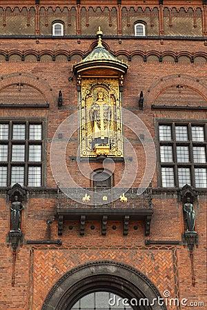 Detail of facade of Copenhagen City Hall