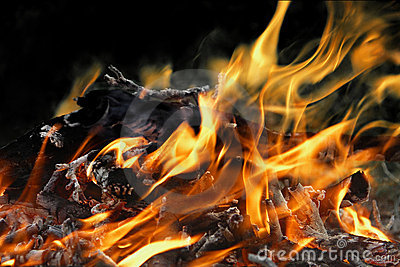 Detail fire blaze