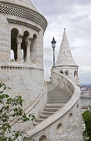 Detail of Fishermens Bastion, Budapest