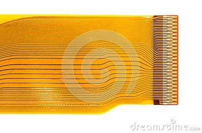 Detail of flexed printed circuit board (FPC)
