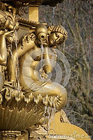 Detail of Fountain near Edinburgh Castle