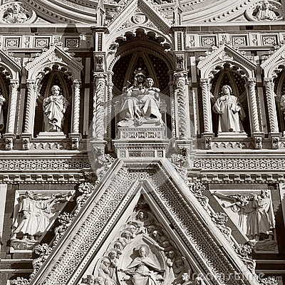 Free Detail From Facade Of Cathedral In Florence,Italy. Royalty Free Stock Photography - 66378367