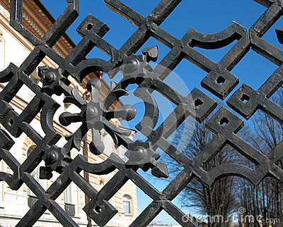 Detail of the garden fence
