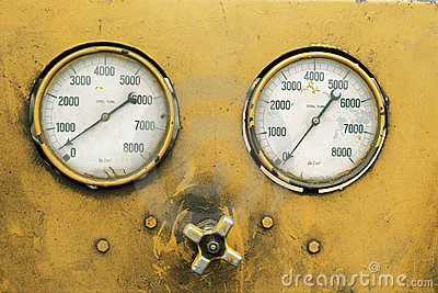 Detail of gauges
