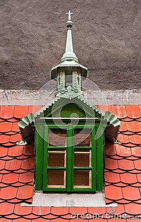 Detail on Golden Lane, Prague