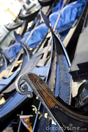 Detail of gondola, Venice