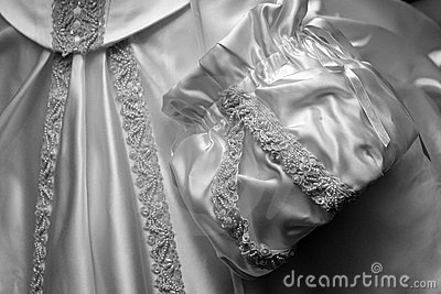Detail of a gown