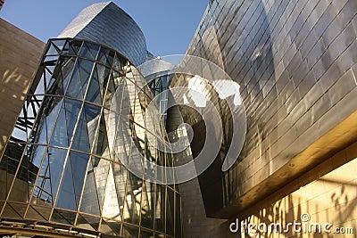 Detail of  Guggenheim Museum, Euskadi, Spain Editorial Photo
