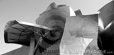 Detail of  Guggenheim Museum, Euskadi, Spain Editorial Stock Image