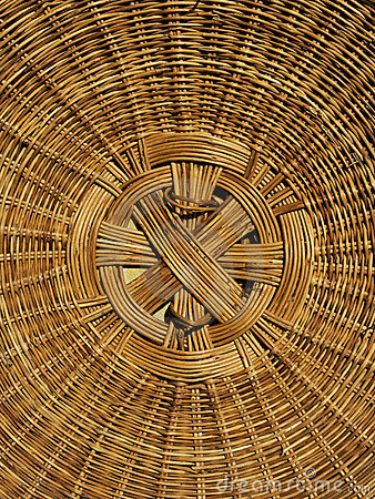 Detail hand woven basket cover