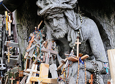 Detail of the Hill of the Crosses
