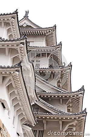 Detail of Himeji Castle, Japan