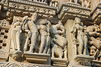 Detail Of Hindu Temple In Khajuraho,India Stock Images - Image: 7846234